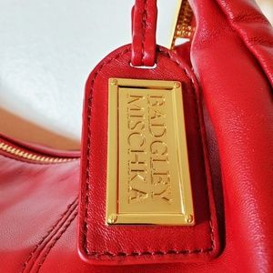 Badgley Mischka Bags - Badgley Mischka Red Vintage Hobo Leather Bag NWOT